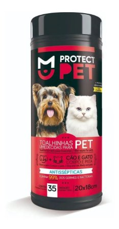 Toalhas Umedecidas para Cachorros e Gatos Protect Pet