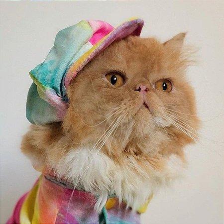 Boina Pet Tie Dye Amarela