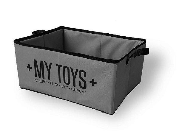 Cesto Organizador para Brinquedos My Toys Cinza