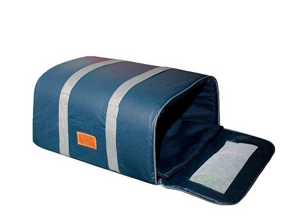 Bolsa de Transporte Aéreo Companhia Azul para Cachorros e Gatos Marinho