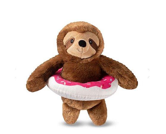 Brinquedo para Cachorros Pelúcia Sloth Donut Float