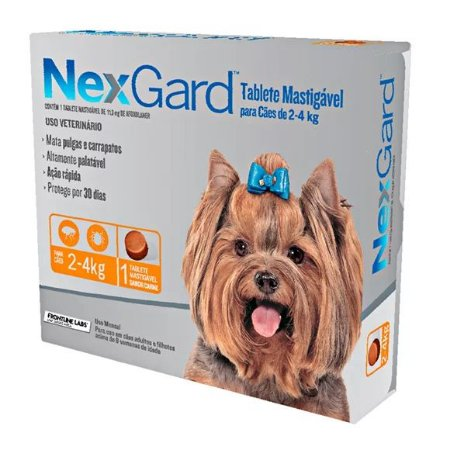 Antipulgas e Carrapatos NexGard | Cães de 2 a 4kg