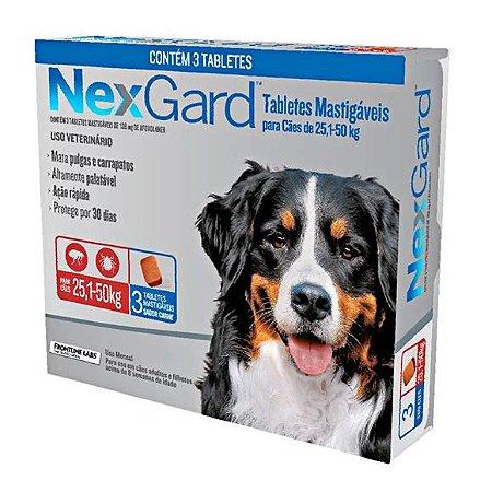 Antipulgas e Carrapatos NexGard Cães de 25,1 a 50kg