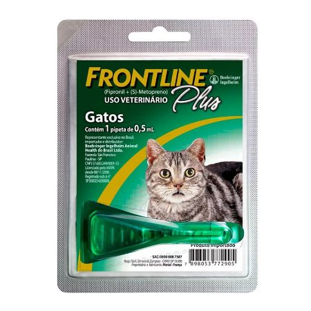 Antipulgas e Carrapatos Frontline Plus | Gatos