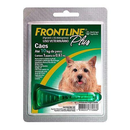 Antipulgas e Carrapatos Frontline Plus Cães de 1 a 10kg