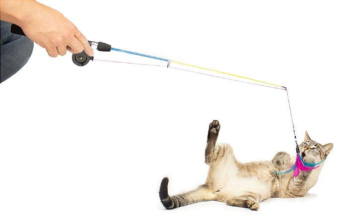 Brinquedo para Gatos Varinha de Pesca