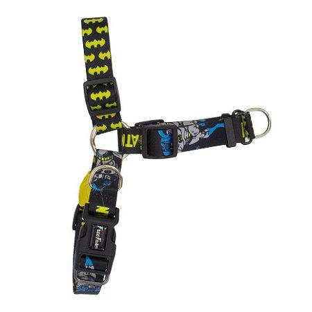 Peitoral Anti Puxão para Cachorros Batman 80 Anos
