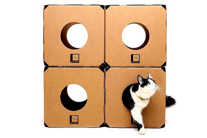 Brinquedo para Gatos Labirinto 4 Cubos