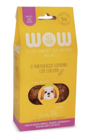 Petisco Natural para Cachorros O Maravilhoso Lombinho com Cúrcuma 50g