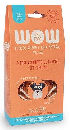Petisco Natural para Cachorros O Fabuloso Peito de Frango com Cúrcuma 50g