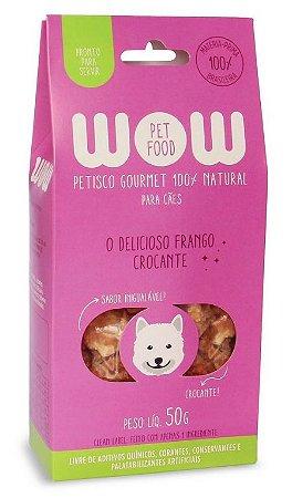 Petisco Natural para Cachorros O Delicioso Frango Crocante 50g