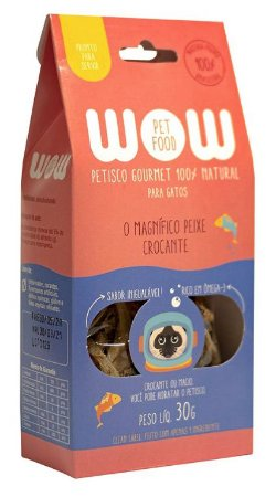Petisco Natural para Gatos O Magnífico Peixe Crocante 30g