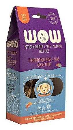 Petisco Natural para Cachorros O Requintado Peixe e suas Ervas Finas 30g
