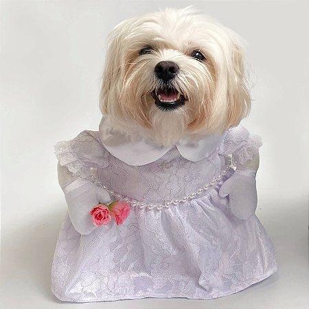 Fantasia para Cachorros Vestido de Noiva