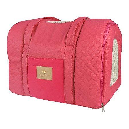 Bolsa de Transporte para Cachorros e Gatos Basic Pink