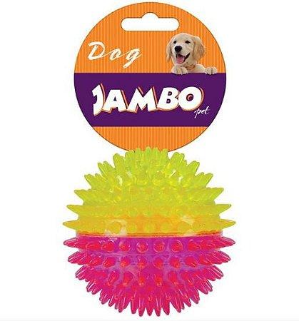 Brinquedo para Cachorro Bola com Espinho Dual Color Rosa e Amarelo