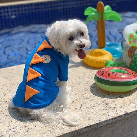 Camiseta Pet com Proteção UV Dinossauro