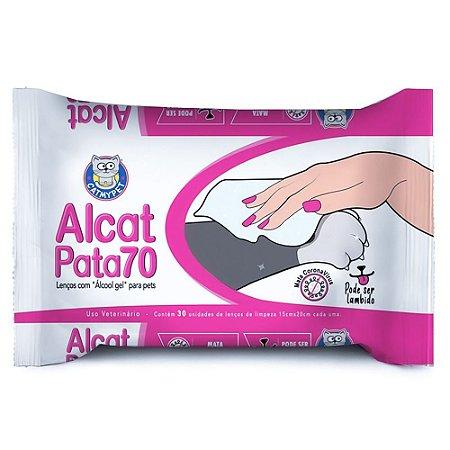 Lenços Umedecidos com Álcool Gel para Pet Alcat Pata 70