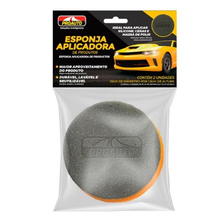 Esponja Aplicadora Produtos Automotivos Limpa Pneus Proauto