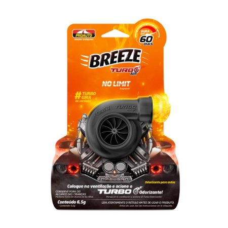 Aromatizante Breeze Turbo Air No Limit Odorizante Cheirinho Proauto