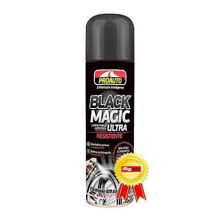 Limpa Pneus Spray Black Magic Proauto Pretinho Alto Brilho