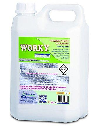 Detergente Alcalino Semi Pastoso Limpeza Pesada-Worky-5lts-Quimiart