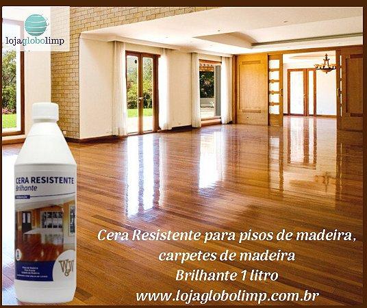 Cera Resistente Piso de Madeira Brilhante 1 litro- W&W Quimica