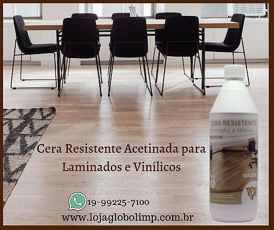 Cera Resistente Laminados e Vinílicos Acetinada 1 litro W&W Química