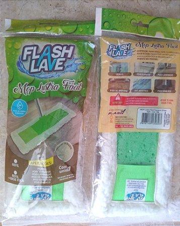 Mop Lustra Fácil com base e Refil Flash Lave Sem Cabo