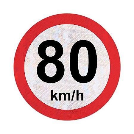 Placa velocidade máxima permitida 80km/h - R-19