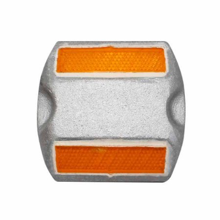 Tacha refletiva metálica Bidirecional - Amarela - Tipo I