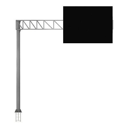 Bandeira semi-pórtico treliçado