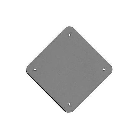 Chapa para placa de sinalização - Quadrada (advertência)