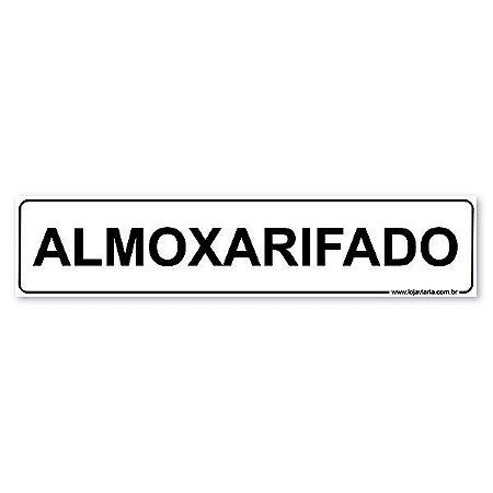 Placa Almoxarifado 30x6,5 cm ACM 3 mm