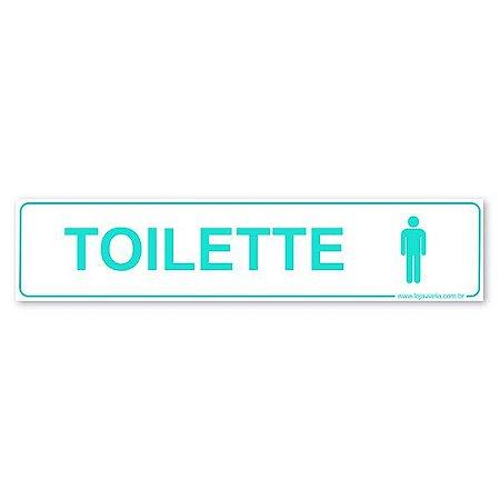 Placa Toilette Masculino 30x6,5 cm ACM 3 mm