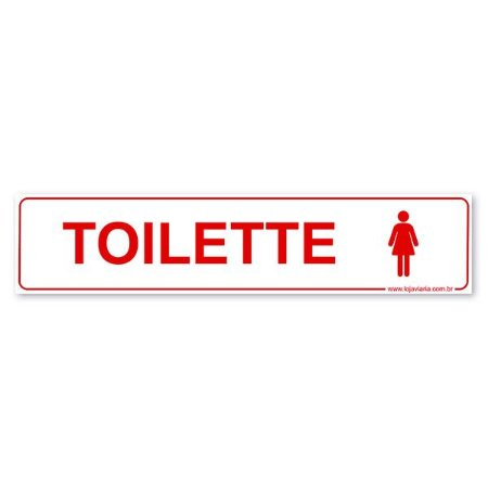 Placa Toilette Feminino 30x6,5 cm ACM 3 mm