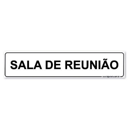 Placa Sala de Reunião 30x6,5 cm ACM 3 mm