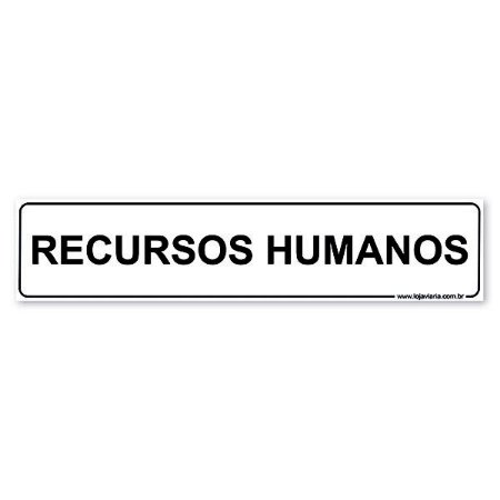 Placa Recursos Humanos 30x6,5 cm ACM 3 mm