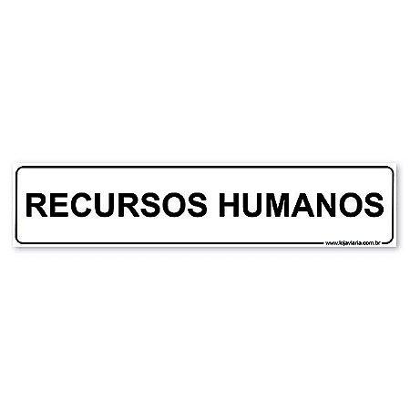 Placa Recursos Humanos