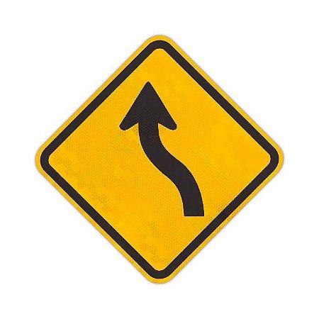 "Placa Curva em ""S"" à esquerda A-5a"