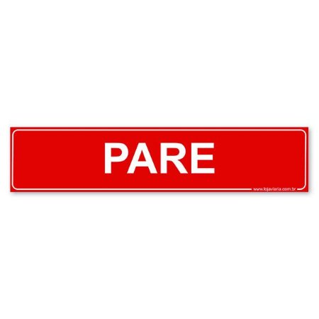 Placa Pare 30x6,5 cm ACM 3 mm