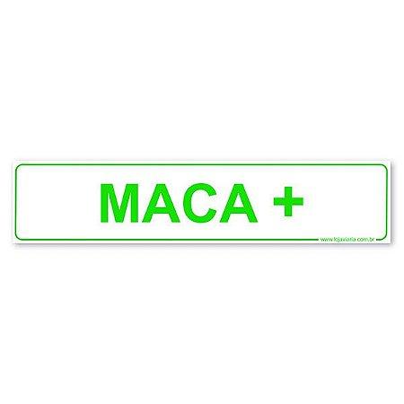 Placa Maca 30x6,5 cm ACM 3 mm