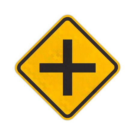 Placa Cruzamento de vias A-6