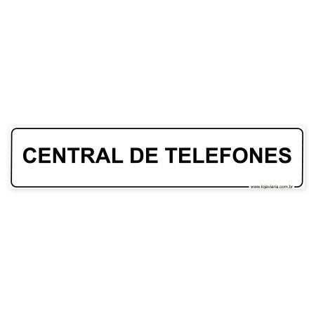 Placa Central de Telefones - 30x6,5 cm ACM 3 mm