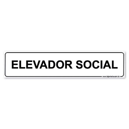 Placa Elevador Social 30x6,5 cm ACM 3 mm
