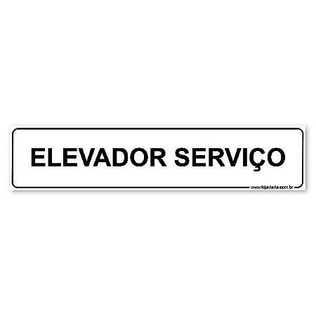 Placa Elevador de Serviço - 30x6,5 cm ACM 3 mm