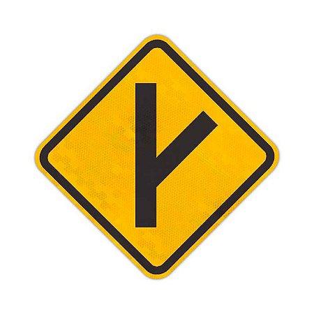 Placa Entroncamento oblíquo à direita A-10b