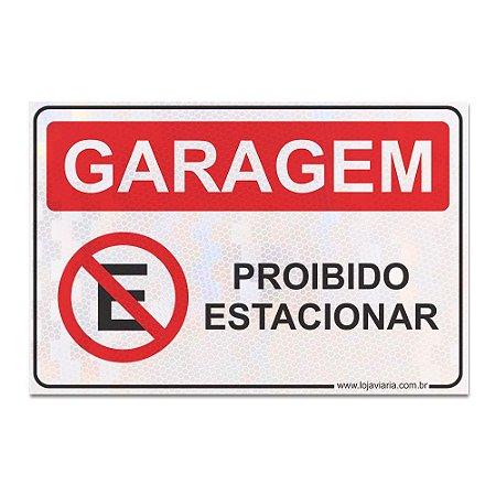 Placa Garagem Proibido Estacionar