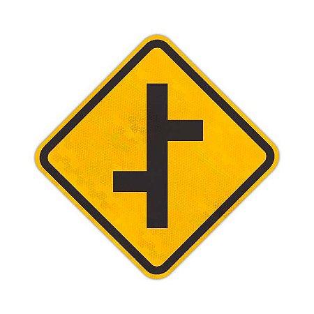 Placa Junções sucessivas contrárias primeira à esquerda A-11a