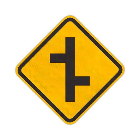Placa Junções sucessivas contrárias primeira à direita A-11b